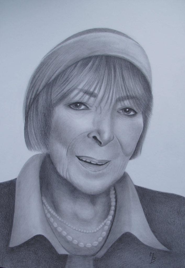 kresba portrétu Hany Hegerové
