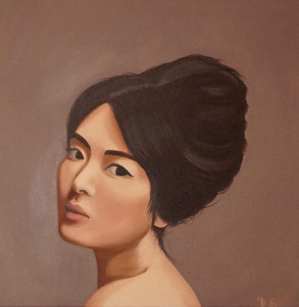 olejomalba portrétu asijské ženy
