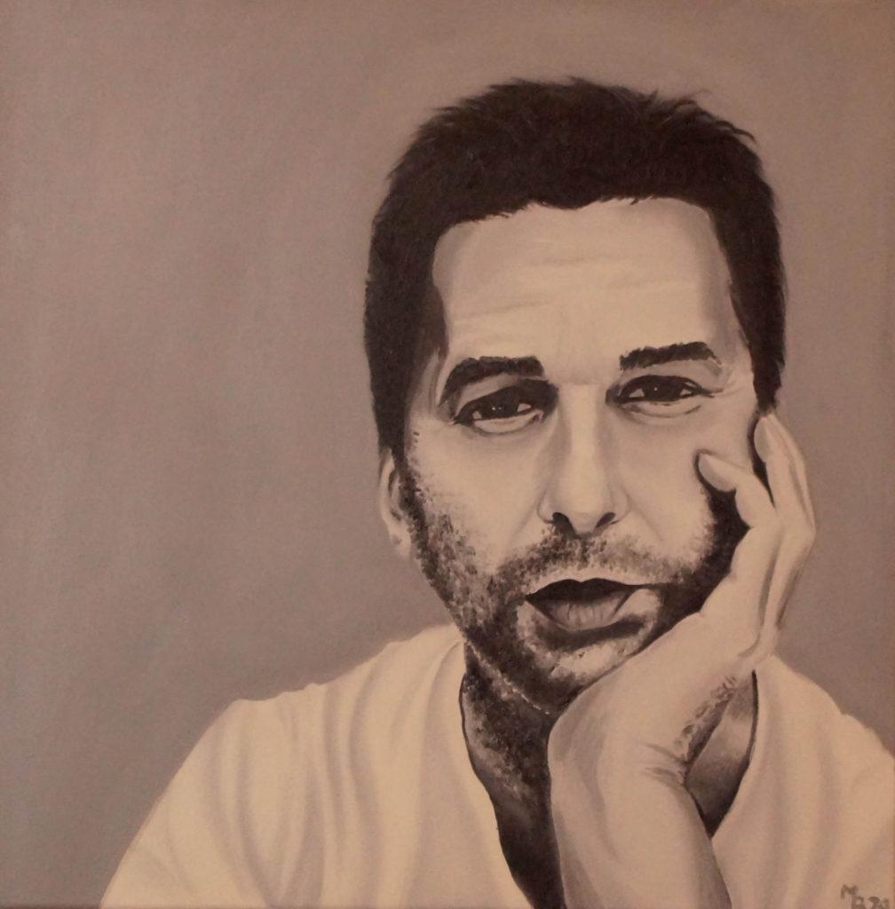 olejomalba portrétu Davea Gahana
