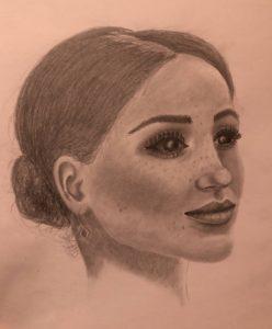 kresba Meghan