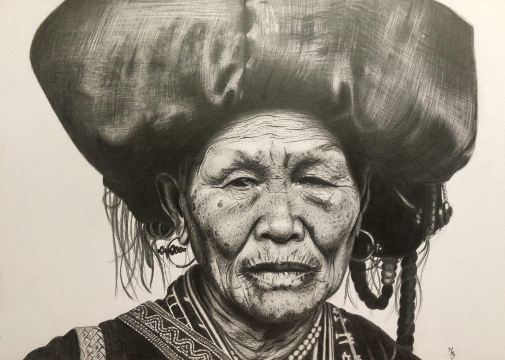 portrét tužkou